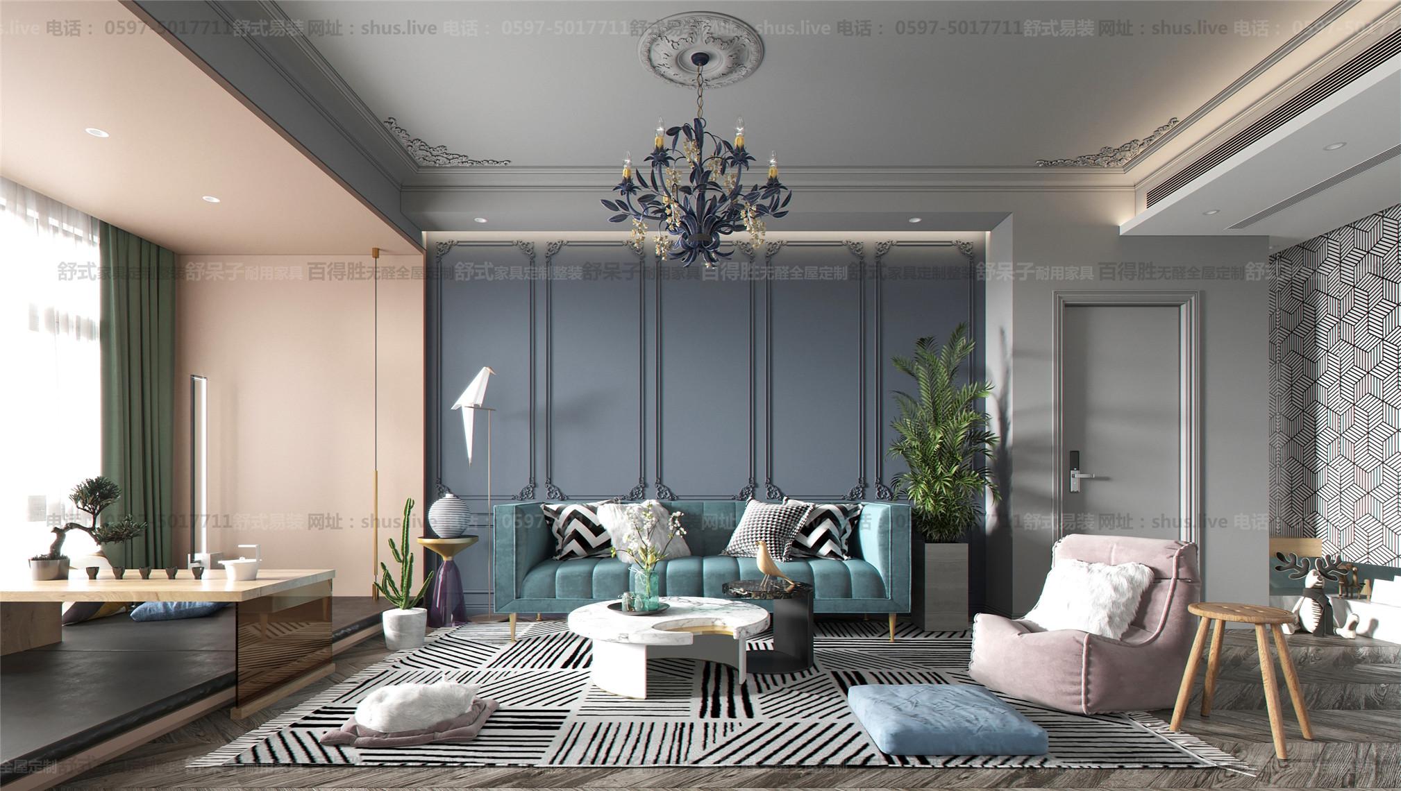 法式混搭-全屋整装-舒式易装-法式风格月现代风格的结合