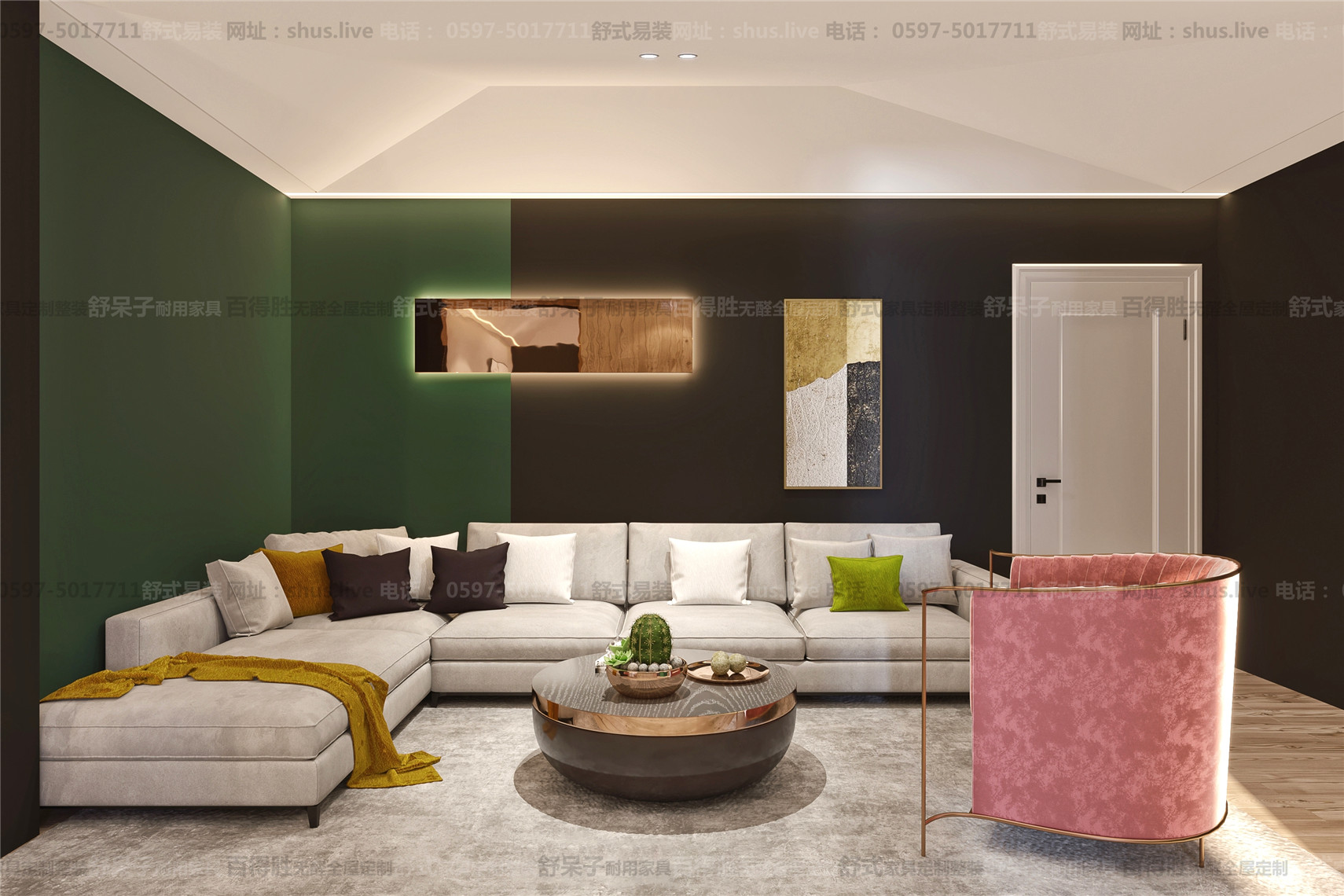 现代轻奢-全屋整装-舒式易装-用复古的色彩去做现代轻奢