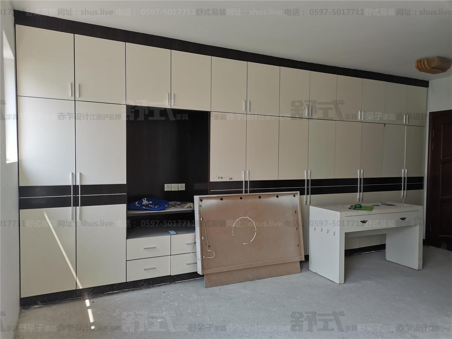 旧房改造-御佳园-衣柜/鞋柜/电视背景墙-舒式易装